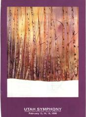 Utah Symphony Program Cover February 1998