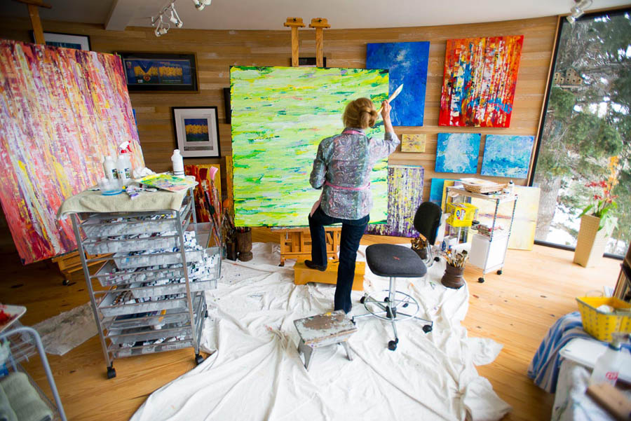 Susan Swartz in her Park City studio.