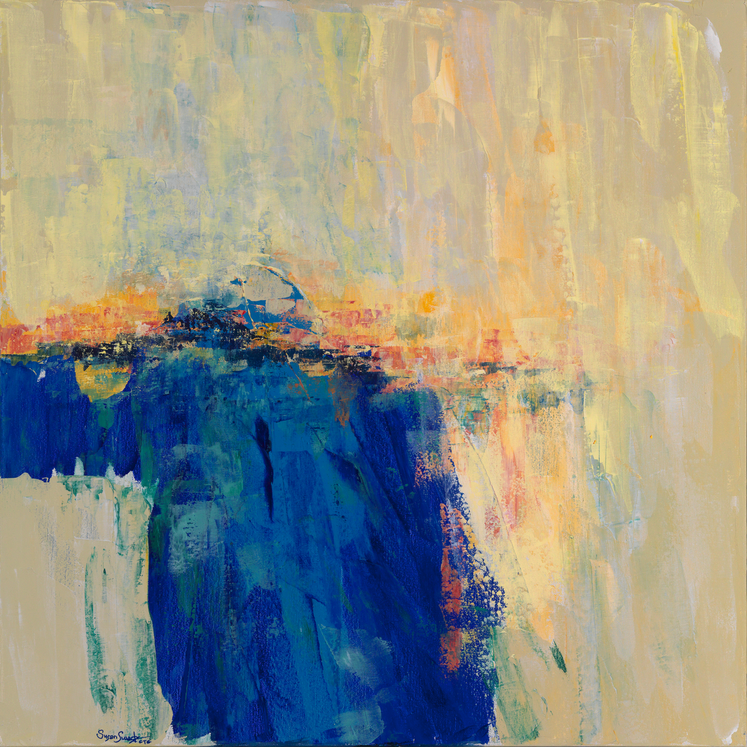 Water Study 001  36 x 36  Acrylic on Linen