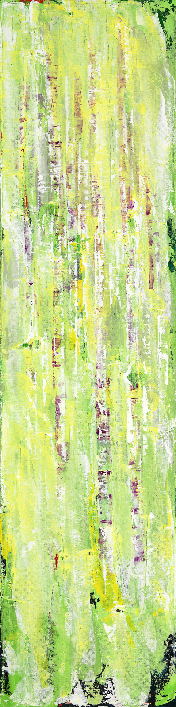 Untitled 022  12 x 48  Acrylic on Linen
