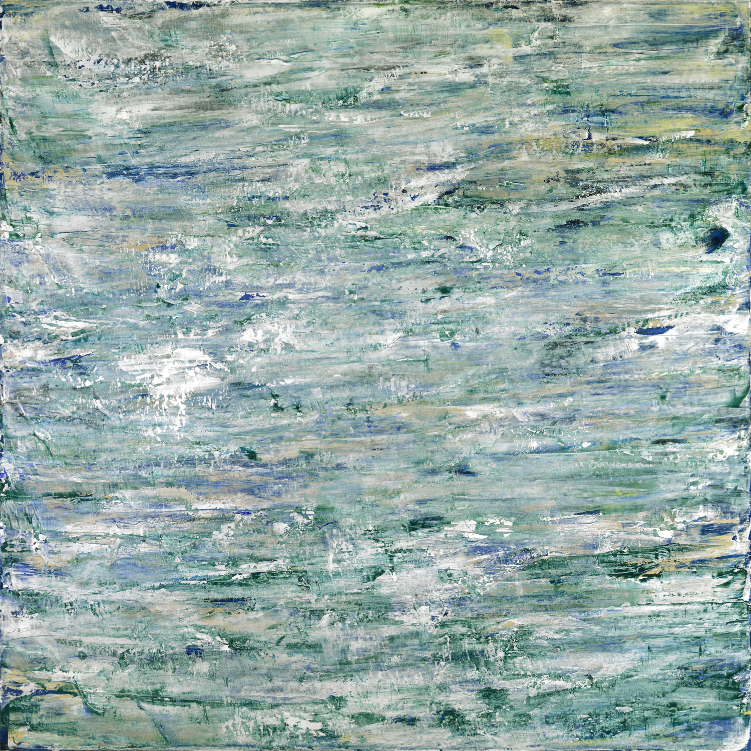 Water Study 006  36 x 36  Acrylic on Linen