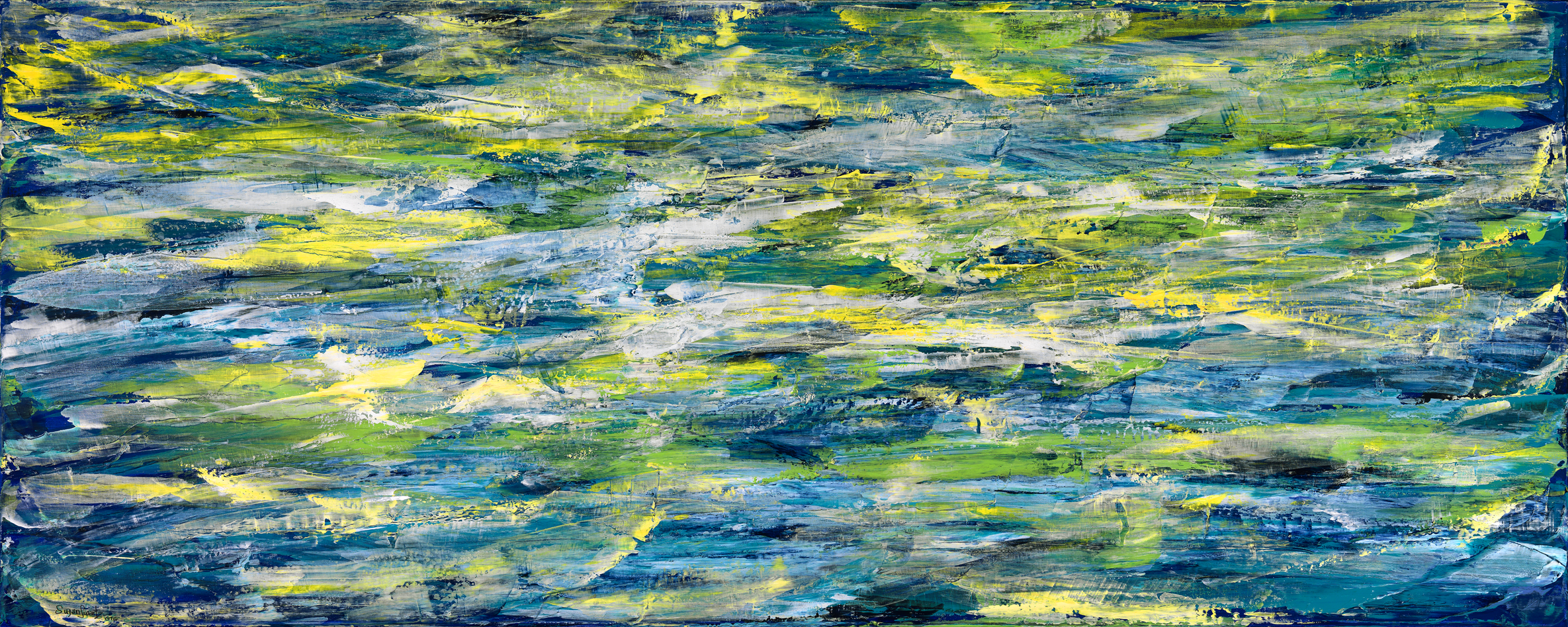 Water Study 008  60 x 24  Acrylic on Linen