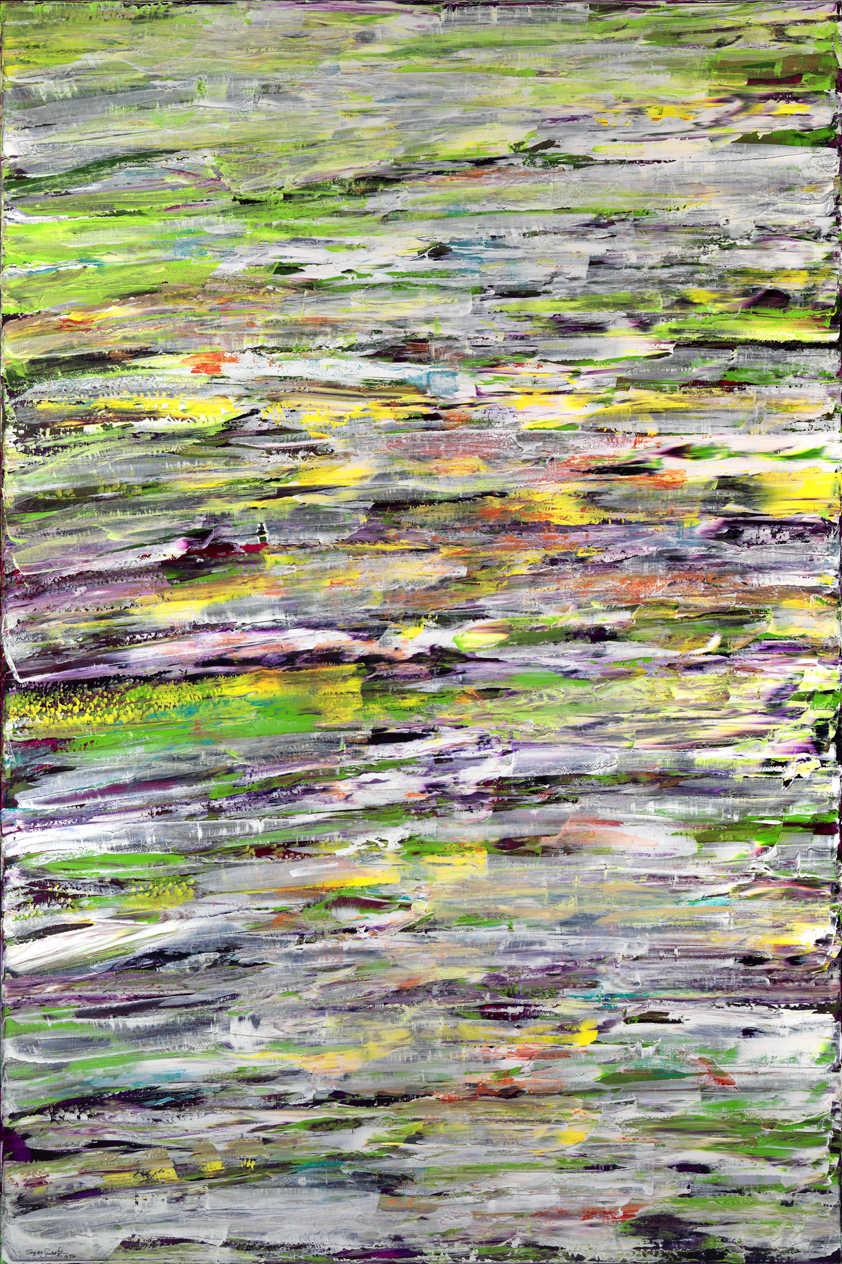 Serenade of Lilies 3  48 x 72 in, 122 x 183 cm