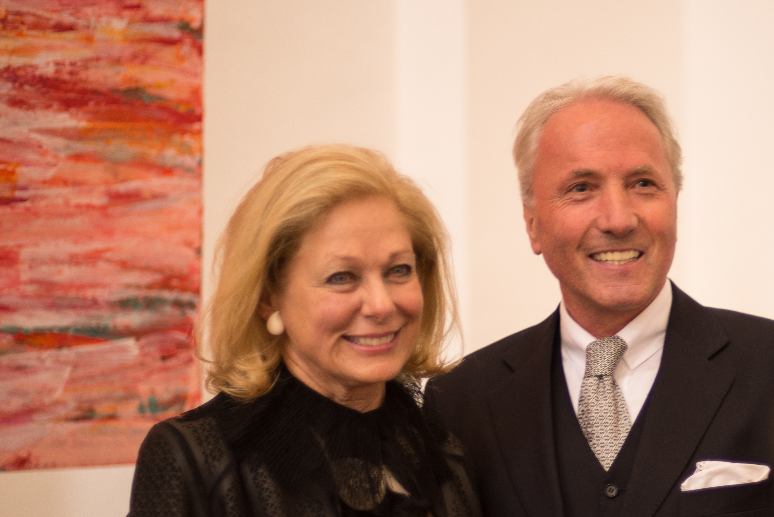 Susan stands with Karl Gollenger, President of the Salzburg Foundation, at the opening of  A Personal Path  at the Kollegienkirche.