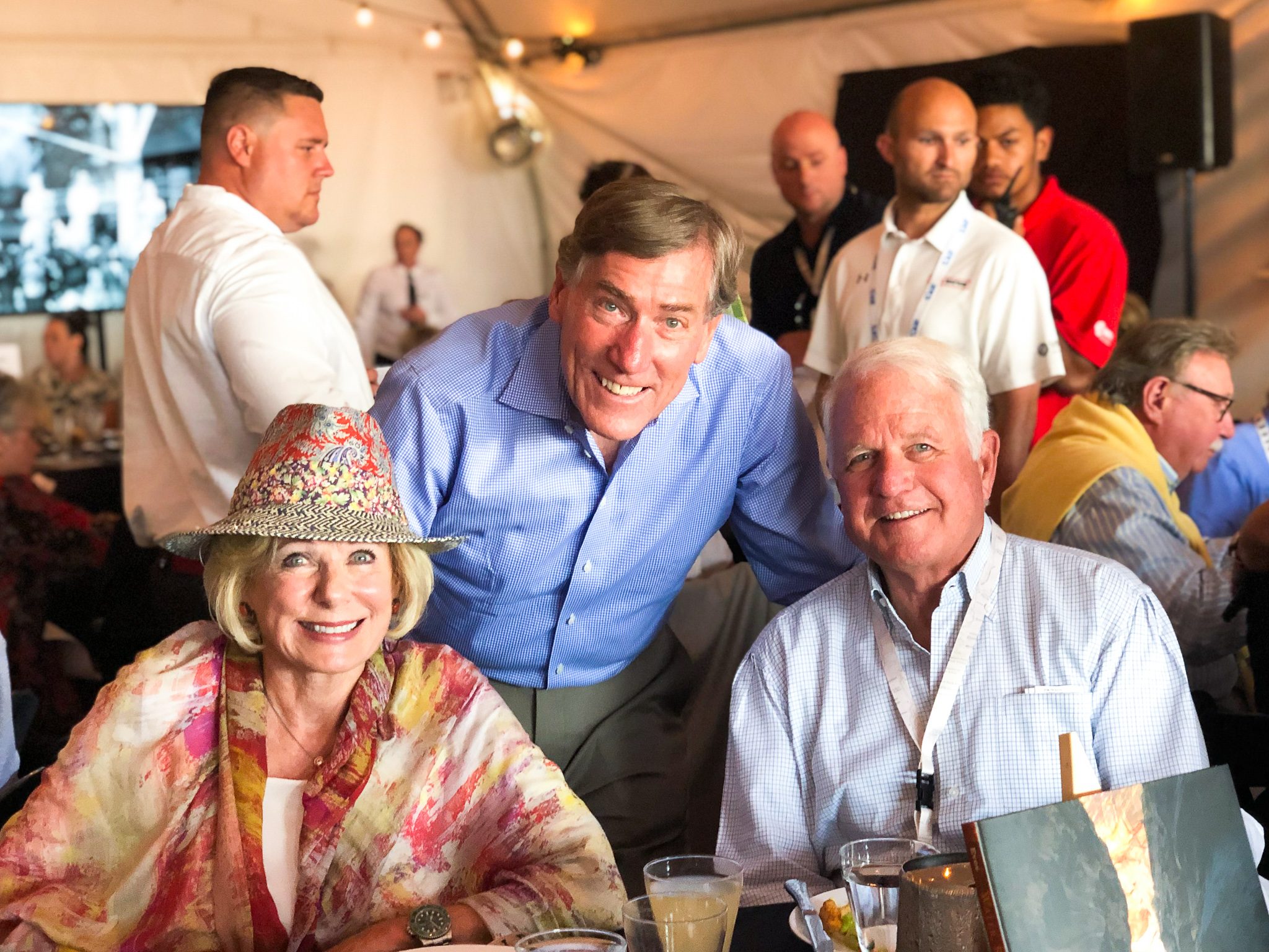 Pictured (L-R): Susan Swartz, A. Scott Anderson, President & CEO of Zions Bank, Jim Swartz.