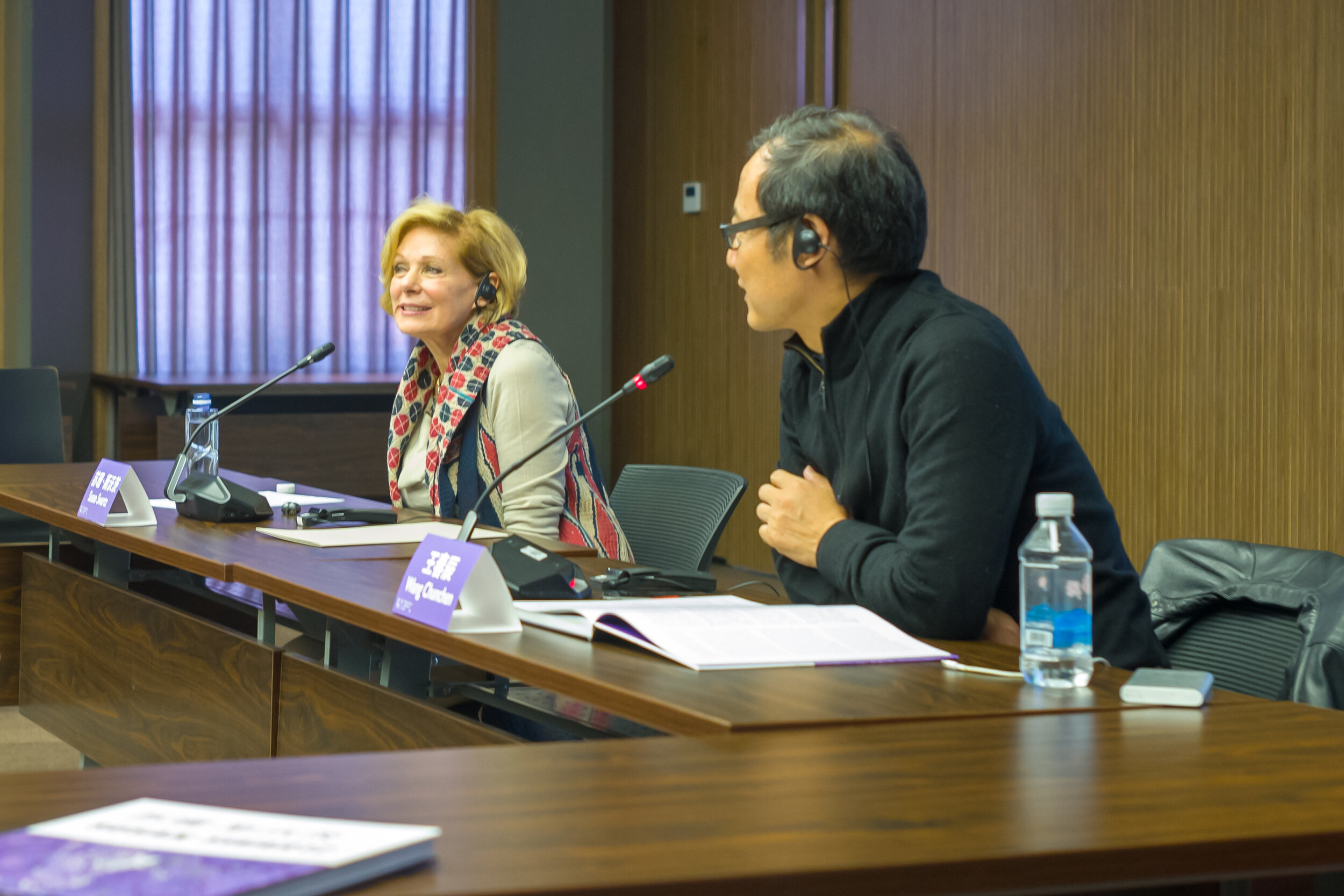 Susan with Wang Chunchen, Moderator