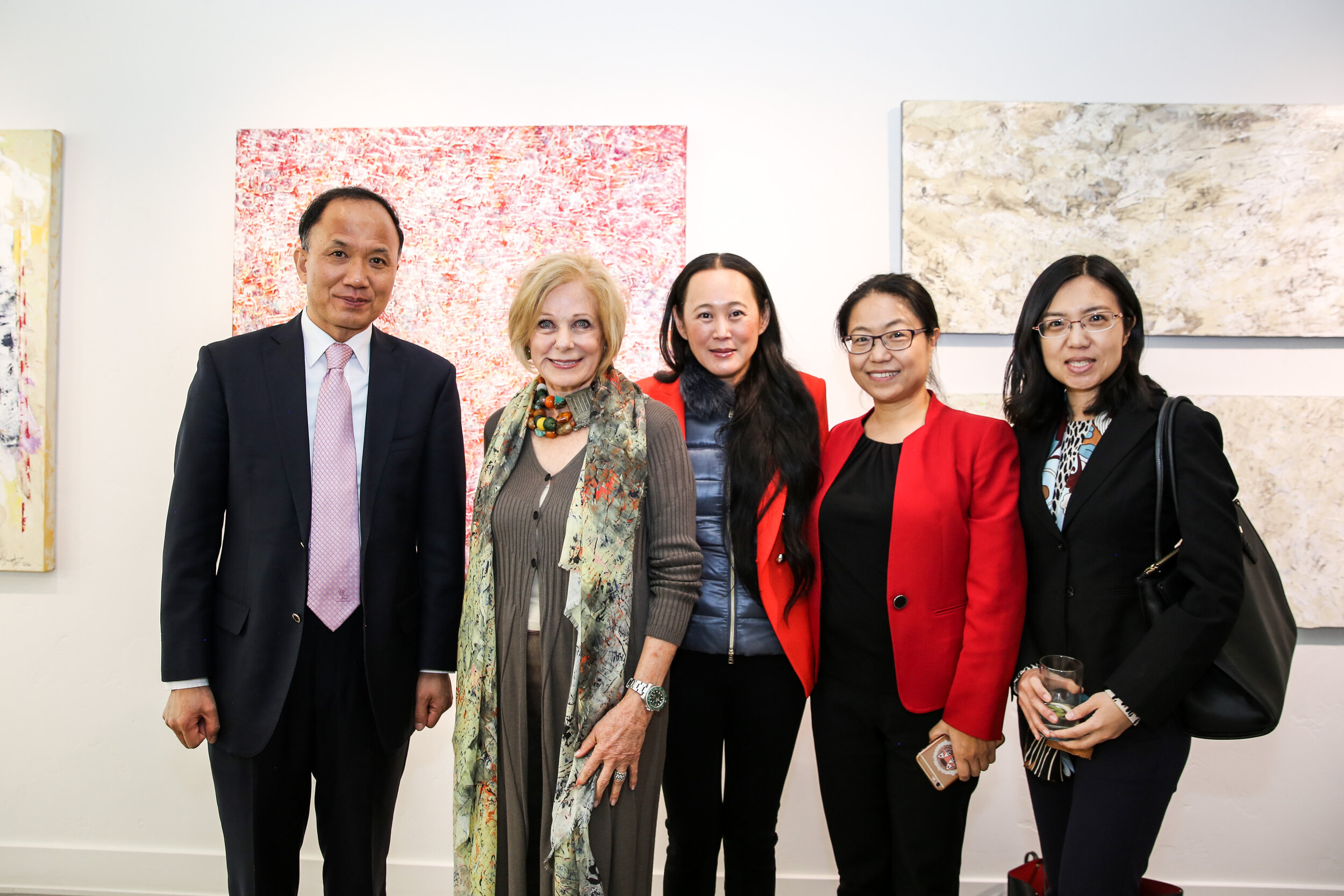 Susan with Naja Lockwood and Chinese Embassy Officials