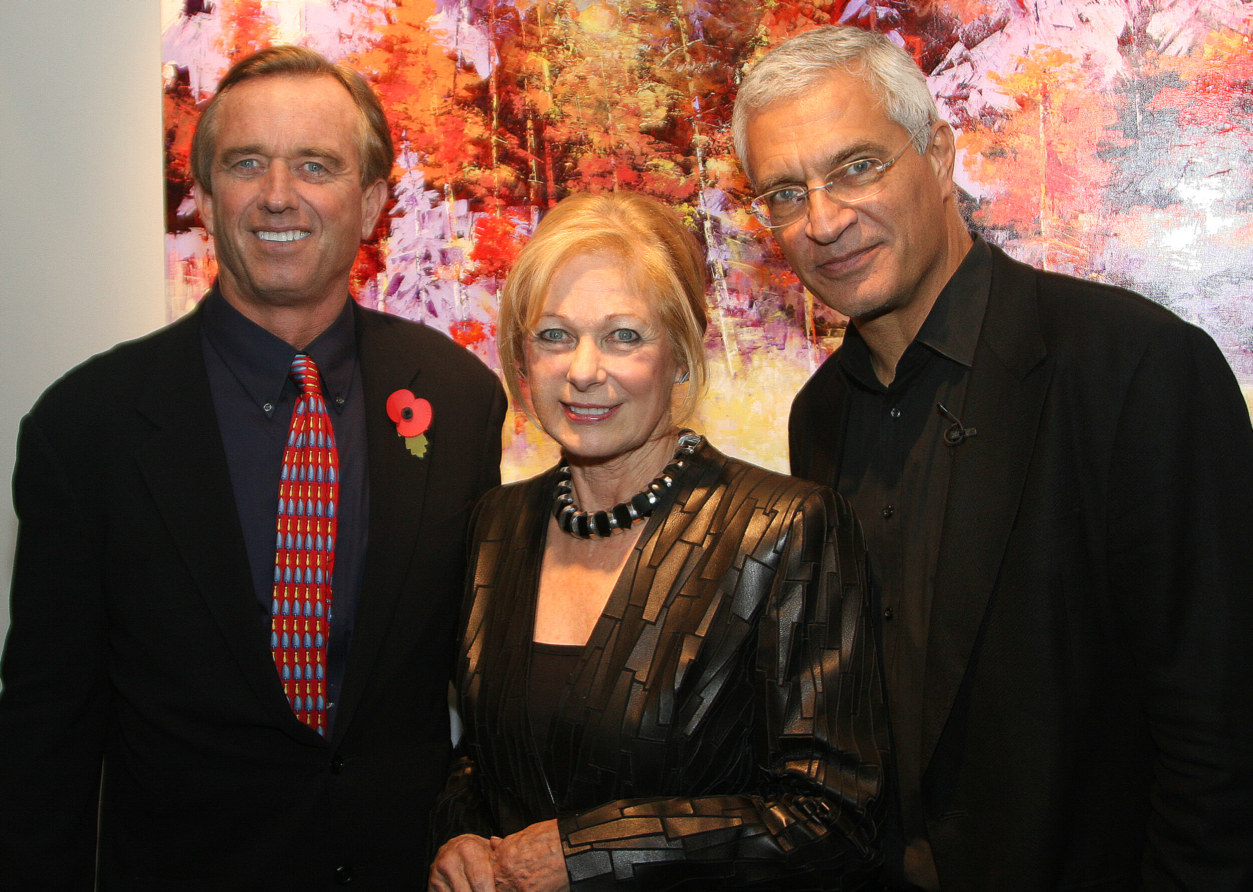 L-R: Environmental crusader Robert F. Kennedy, Jr., Susan and Louie Psihoyos, Director of  The Cove .