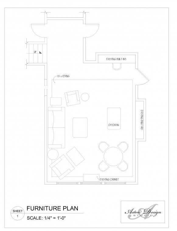 Floor plan of Americana Style Game Room - Click image to enlarge