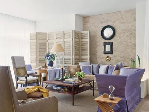 Decorating without pattern, Designer: John Saladino Image Source: Veranda