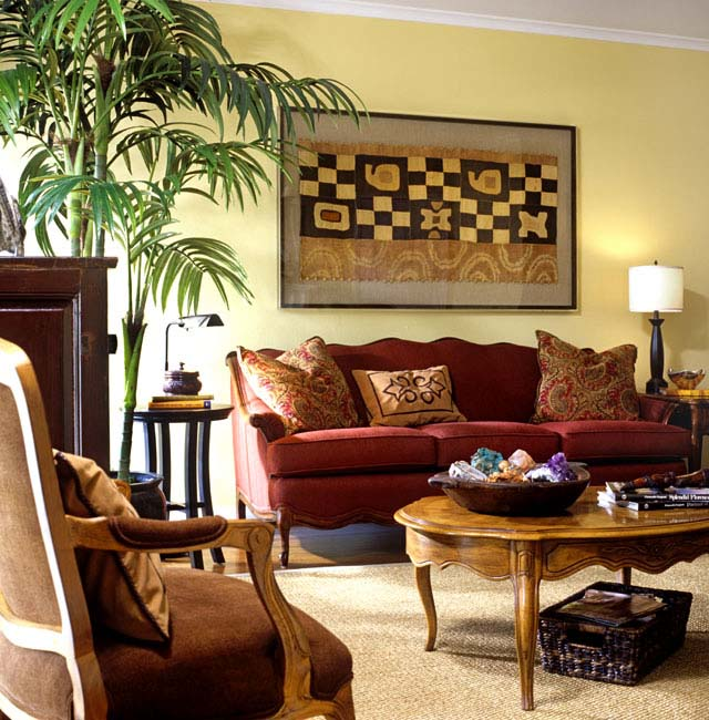 Styling magazine ready interiors, living room | Credit: Joetta Moulden