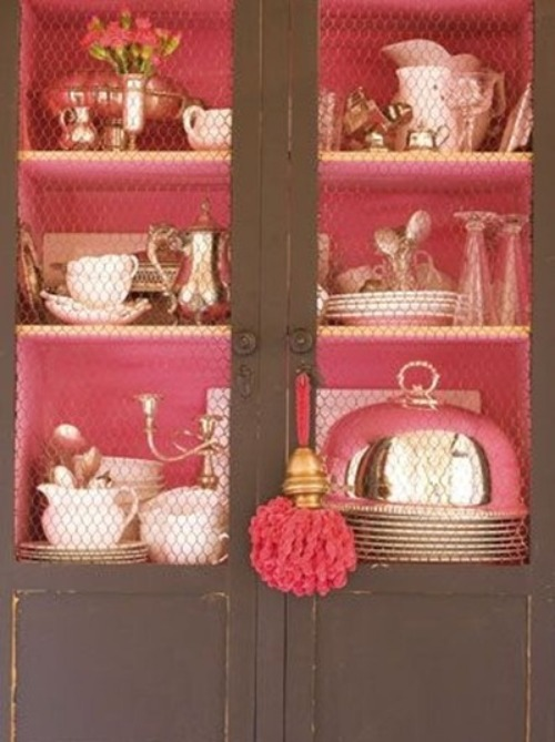 ARTICLE: Ways To Add Color To An Open Plan House | Bookcases And Cabinets Edition | Image Source:  Living With Lis  | CLICK TO READ... http://carlaaston.com/designed/paint-bookshelf-cabinet-backs