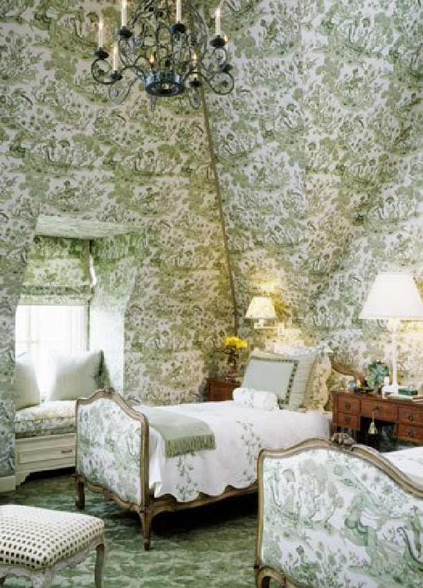 ARTICLE: Toile de Joy | You Either Love It Or Hate It | Image Source:  Nancy's Daily Dish  | CLICK TO READ... http://carlaaston.com/designed/toile-de-jouy-love-or-hate-design-pattern