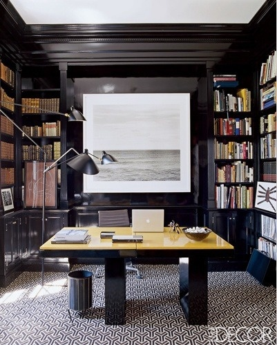 ARTICLE & GALLERY | Go Glossy, Feel Glamorous! - Get Inspired By These Shiny, Happy Interiors | Image Source: Elle Decor | CLICK TO ENJOY... http://carlaaston.com/designed/go-glossy-feel-glamorous (KWs: gloss, paint, wall, cabinet, door, finish)