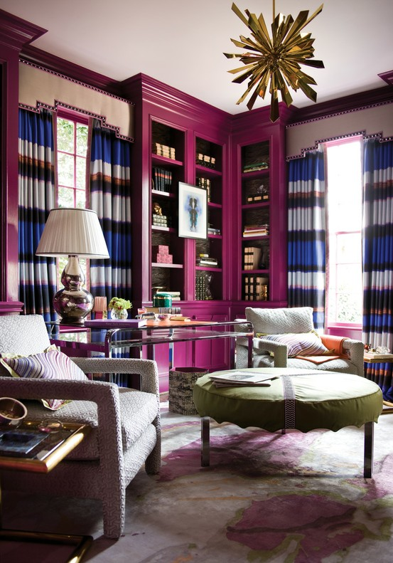 ARTICLE & GALLERY | Go Glossy, Feel Glamorous! - Get Inspired By These Shiny, Happy Interiors | Image Source: Atlanta Homes Magazine | CLICK TO ENJOY... http://carlaaston.com/designed/go-glossy-feel-glamorous (KWs: gloss, paint, wall, cabinet, door, finish)