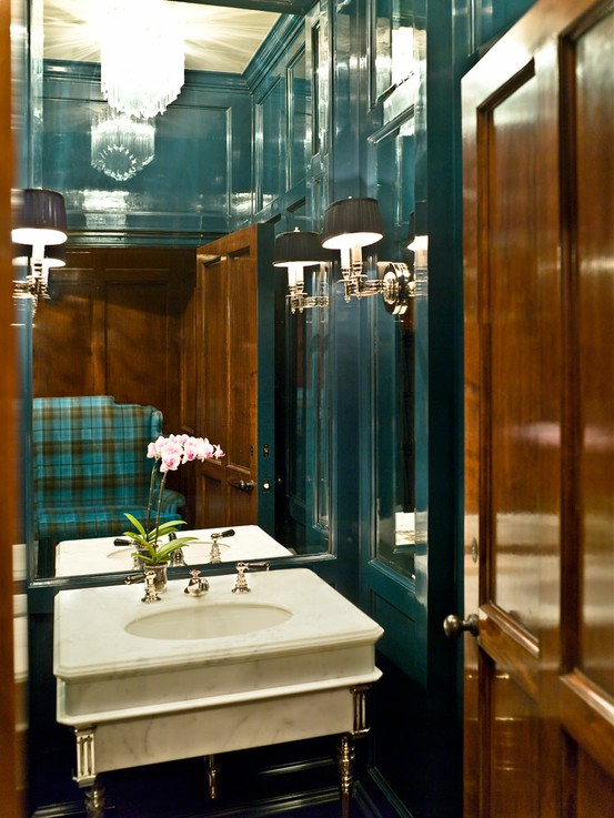 ARTICLE & GALLERY | Go Glossy, Feel Glamorous! - Get Inspired By These Shiny, Happy Interiors | Image Source:  Edyta & Co.  | CLICK TO ENJOY... http://carlaaston.com/designed/go-glossy-feel-glamorous (KWs: gloss, paint, wall, cabinet, door, finish)