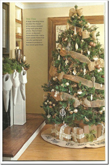 Article + Gallery ➤ http://CARLAASTON.com/designed/decorating-with-burlap For The Love Of Burlap | The Holiday's Hottest Decorating Tool (Image Source: Niagara Novice - KWs: decor, tutorial, DIY, Christmas, tree)