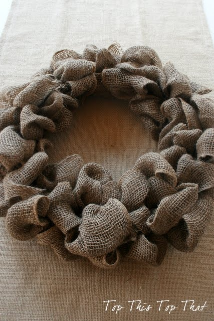 Article + Gallery ➤ http://CARLAASTON.com/designed/decorating-with-burlap For The Love Of Burlap | The Holiday's Hottest Decorating Tool (Image Source: Top This Top That - KWs: decor, tutorial, DIY, Christmas, wreath)