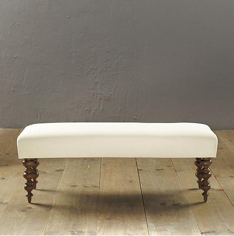NEEDED: Ottoman (in Mckenzie Stripe Natural Fabric & Finish) - $375 @BallardDesigns