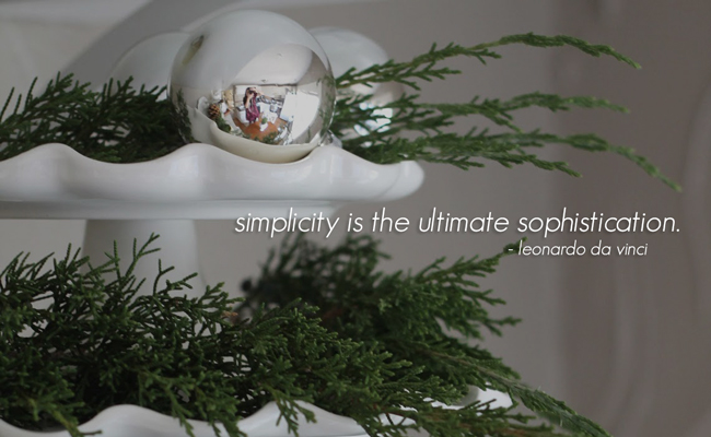 Article + Gallery ➤ http://CarlaAston.com/designed/last-minute-christmas-decor 20 Easy Peasy Christmas Decorations For The Regretfully Late Procrastinator (Image Source: NAME | Kw: holiday, ITEM )