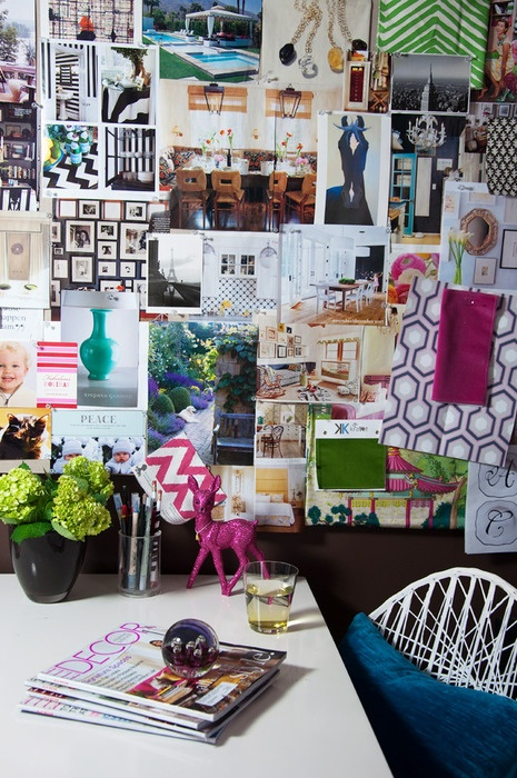 Pinterest Is Pretty, But Pinning WallsWill Always Be More Personal | 27 Examples Why ➤ http://CARLAASTON.com/designed/design-life-story-in-photos-pin-board-wall