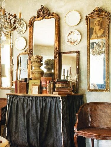 73 Items Sit Atop My Tiny Dresser & It Looks GREAT! Here's How... ➤http://CARLAASTON.com/designed/crowded-tablescape-vignette #tablescape #vignette