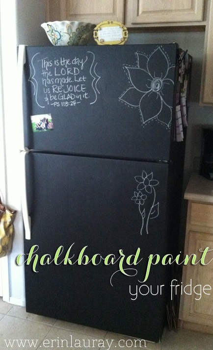 chalkboard fridge by  Erin Lauray
