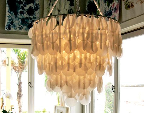 DIY PROJECT: Brenna's Paper Capiz Shell Chandelier