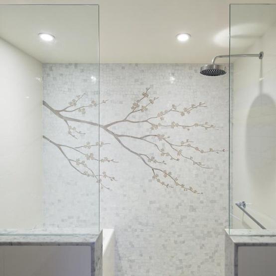Image via:  Remodelista . Mosaic tile installation by  Cheryl Hazan Mosaic