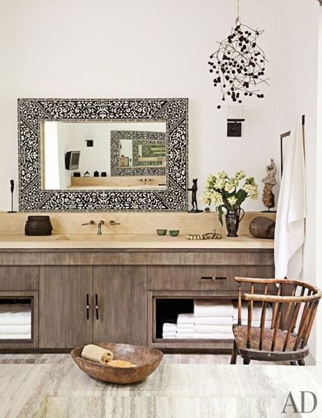 How To Spend Even More Time In The Bathroom (Hint: Add Furniture!)➤ http://CARLAASTON.com/designed/bathroom-furniture