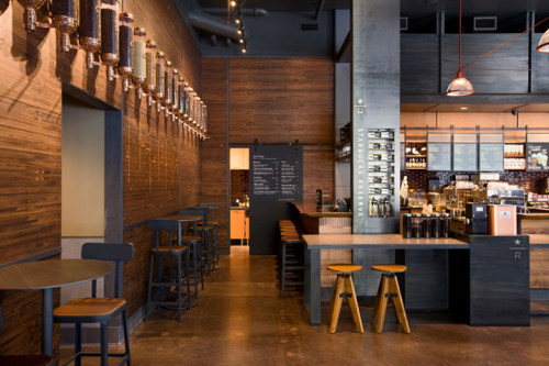 Black Is Beautifully Used In This Little Jewel Box Of A Starbucks