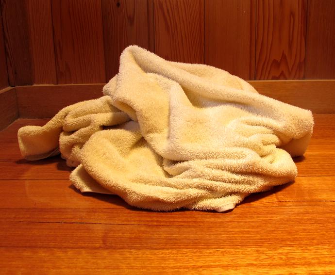 Towels do NOT belong on the floor!