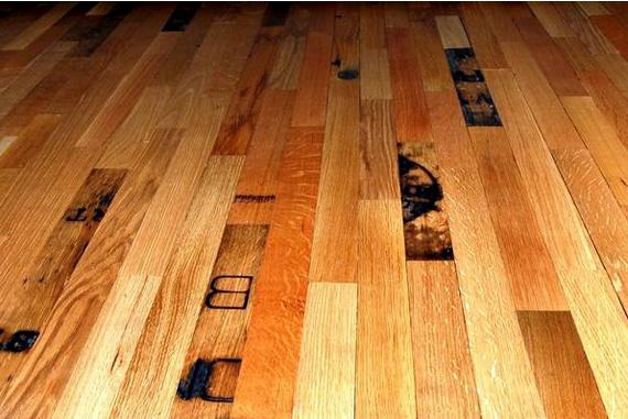 I mage via:  Whiskey Barrel Flooring