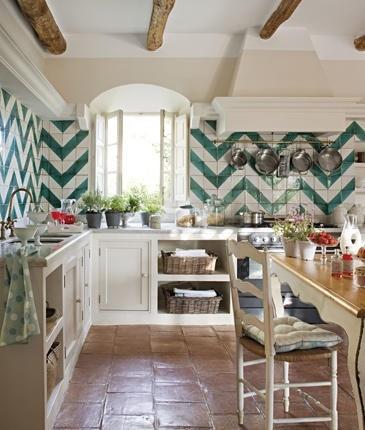 DESIGNED's Definitive Guide To Home Backsplash Design, Image source:  El Mueble , via:  With Love By Bea