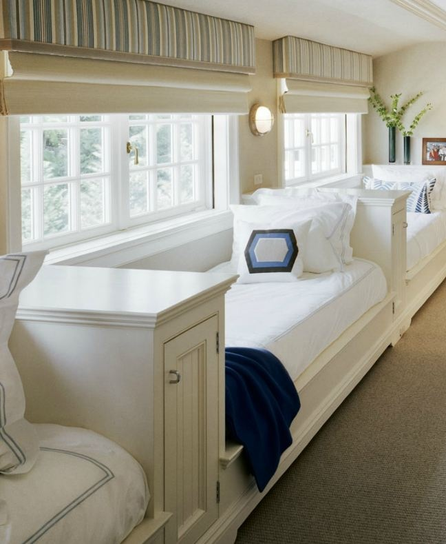 Built-in daybeds make good use of space under the windows | Image via:  Significant Homes, LLC  #daybed