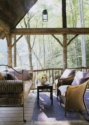 An outdoor sleeping deck retreat complete with daybed | Designer:  Amelia Handegan  #daybed