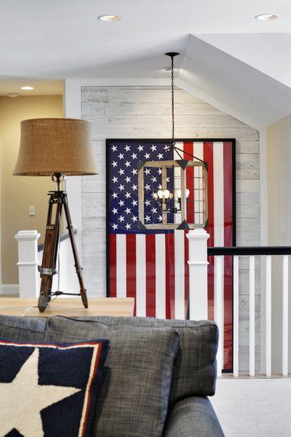 Image via: Houzz,  Echelon Custom Homes  | #4thofJuly #Americanflag