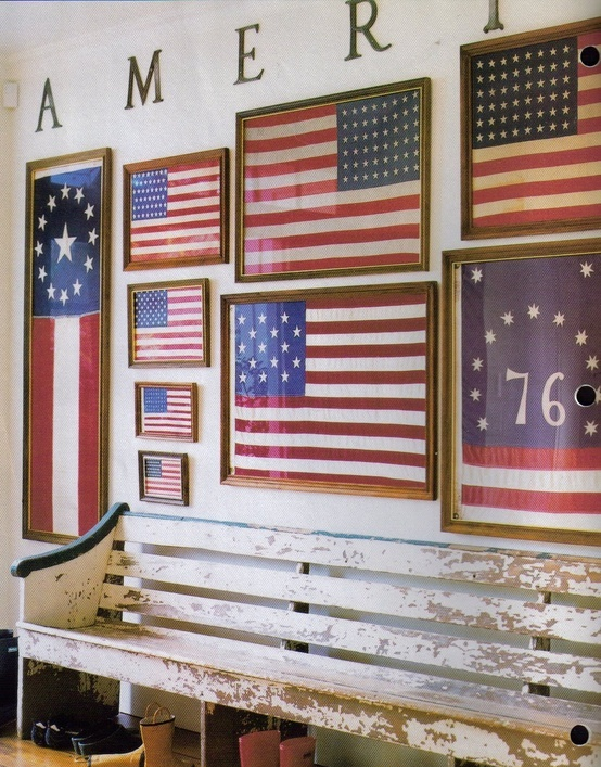 Image Country Living via:  Apartment Therapy  | #4thofJuly #Americanflag