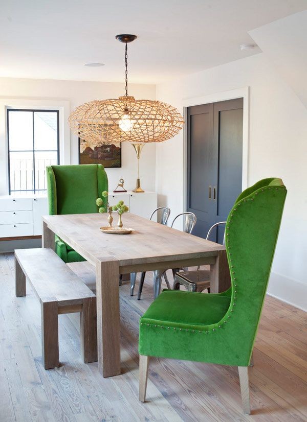 Ease Into This Casual Natural Big Sur Dining Room Designed
