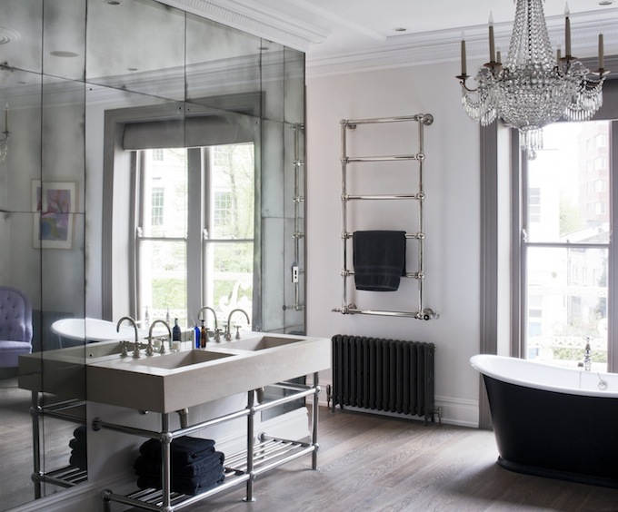 how tall, luxurious mirrors let you lift your ceiling w/o literally raising the roof