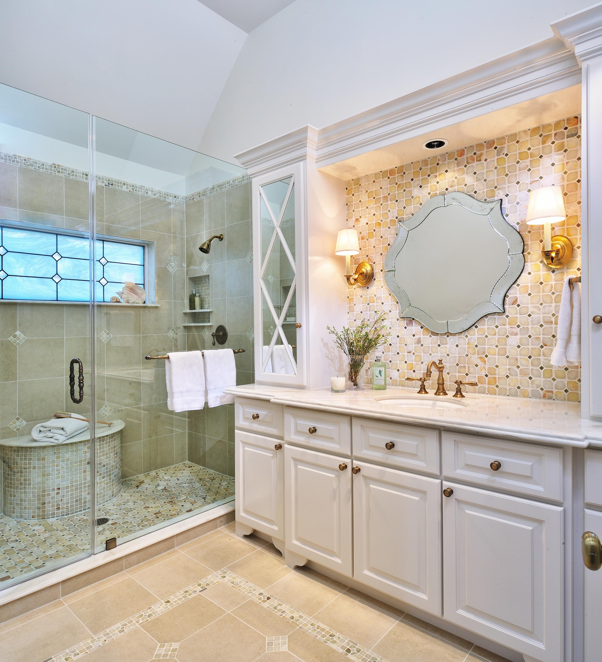 A Dark Bathroom Gets A Bright Makeover, Designer: Carla Aston