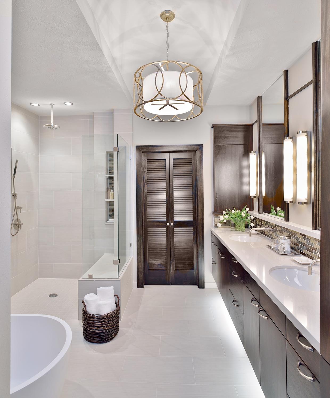 A Builder Grade Bathroom Made Modern, Designer: Carla Aston