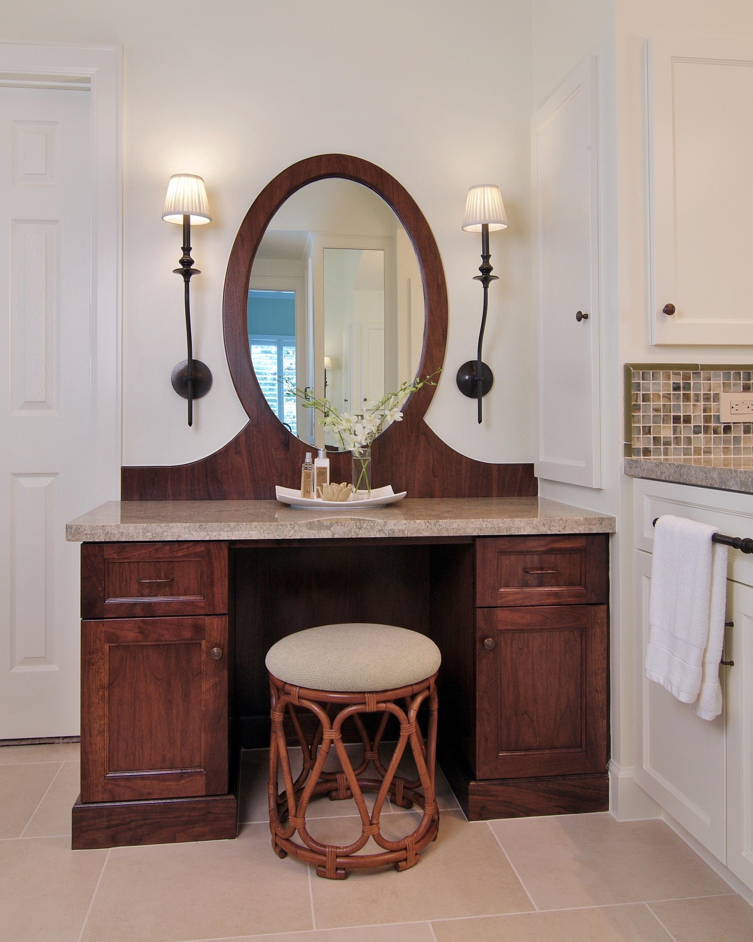 Bathroom remodel with vanity, Designer: Carla Aston