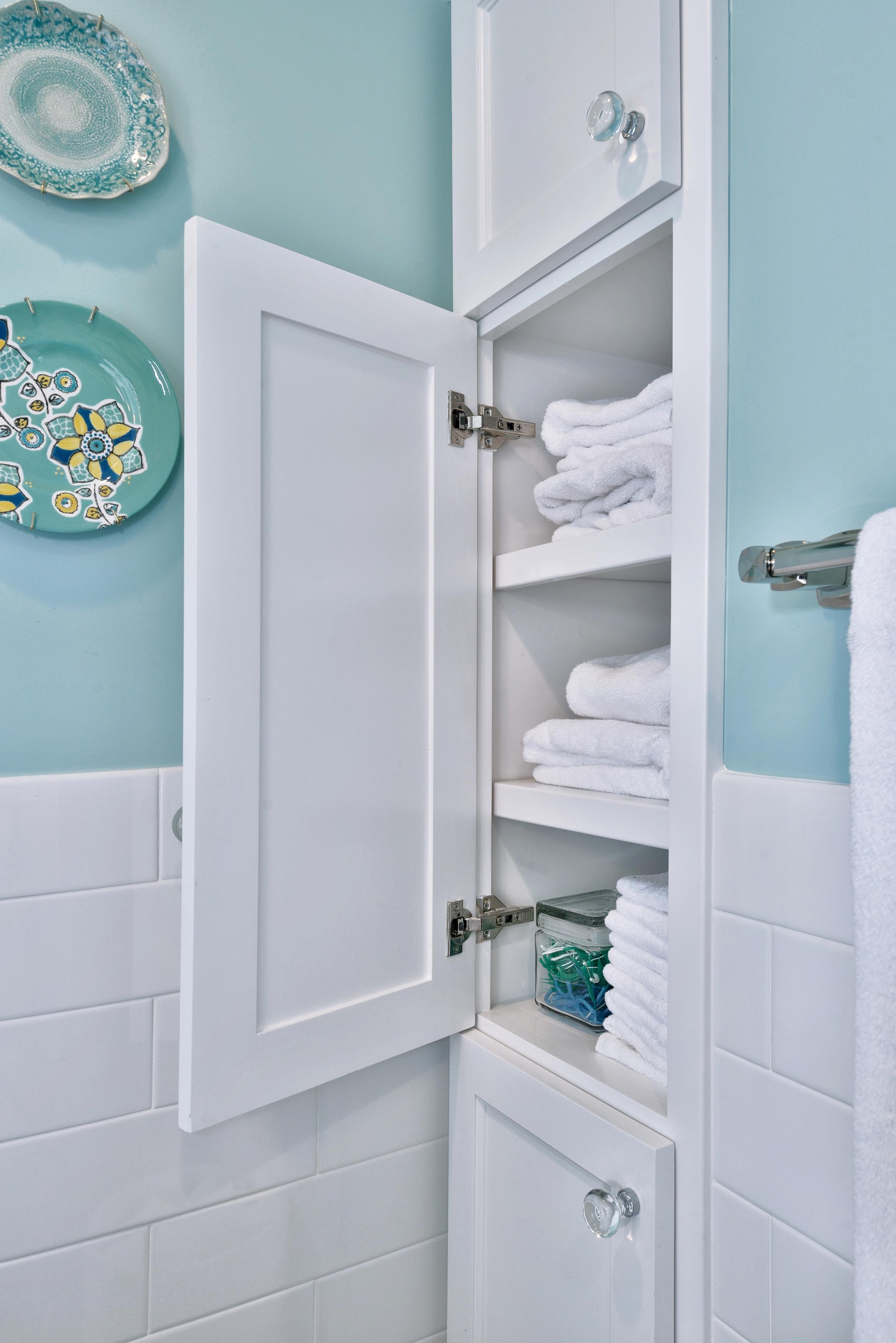 Tiffany blue girl bathroom remodel, Designer: Carla Aston