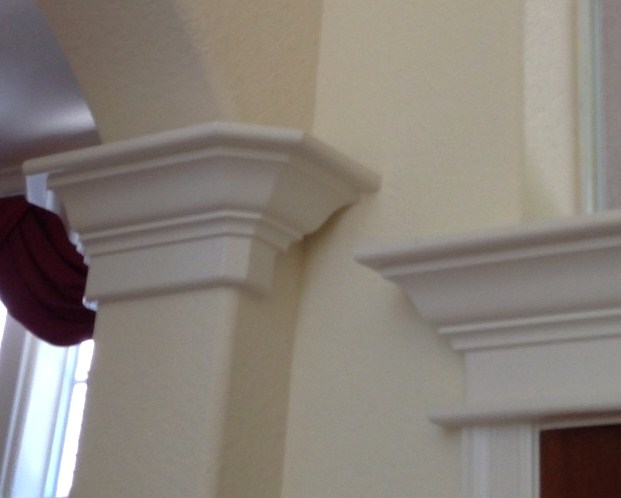 Mouldings can be a beautiful thing. However, many times they're not. Sometimes they're bulky or puny, cheaply done, outside of the contextual style of the house, and really just don't make sense. #mouldings #woodtrim