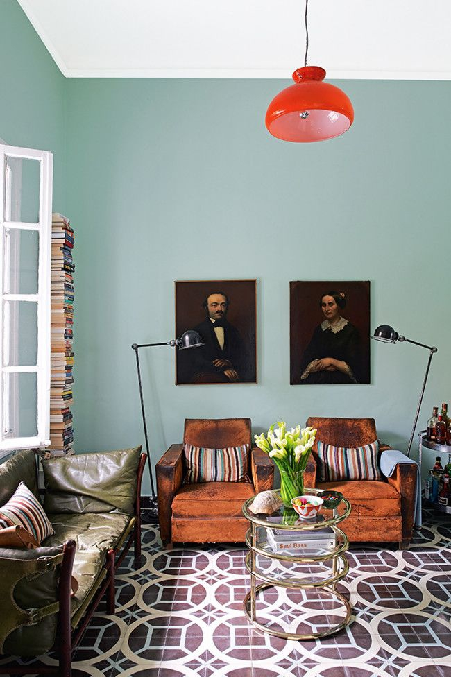 Old painted portraits willadd depth and character to any room in your house. They add a sense of history and nostalgia. They add a richness and an extra layer to a room, no matter what the size.  Interior designer: Samuel and Caitlin Dowe-Sandes