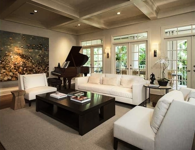 I wonder how many homes have a piano but no piano players? | Design -er: DOXA Home