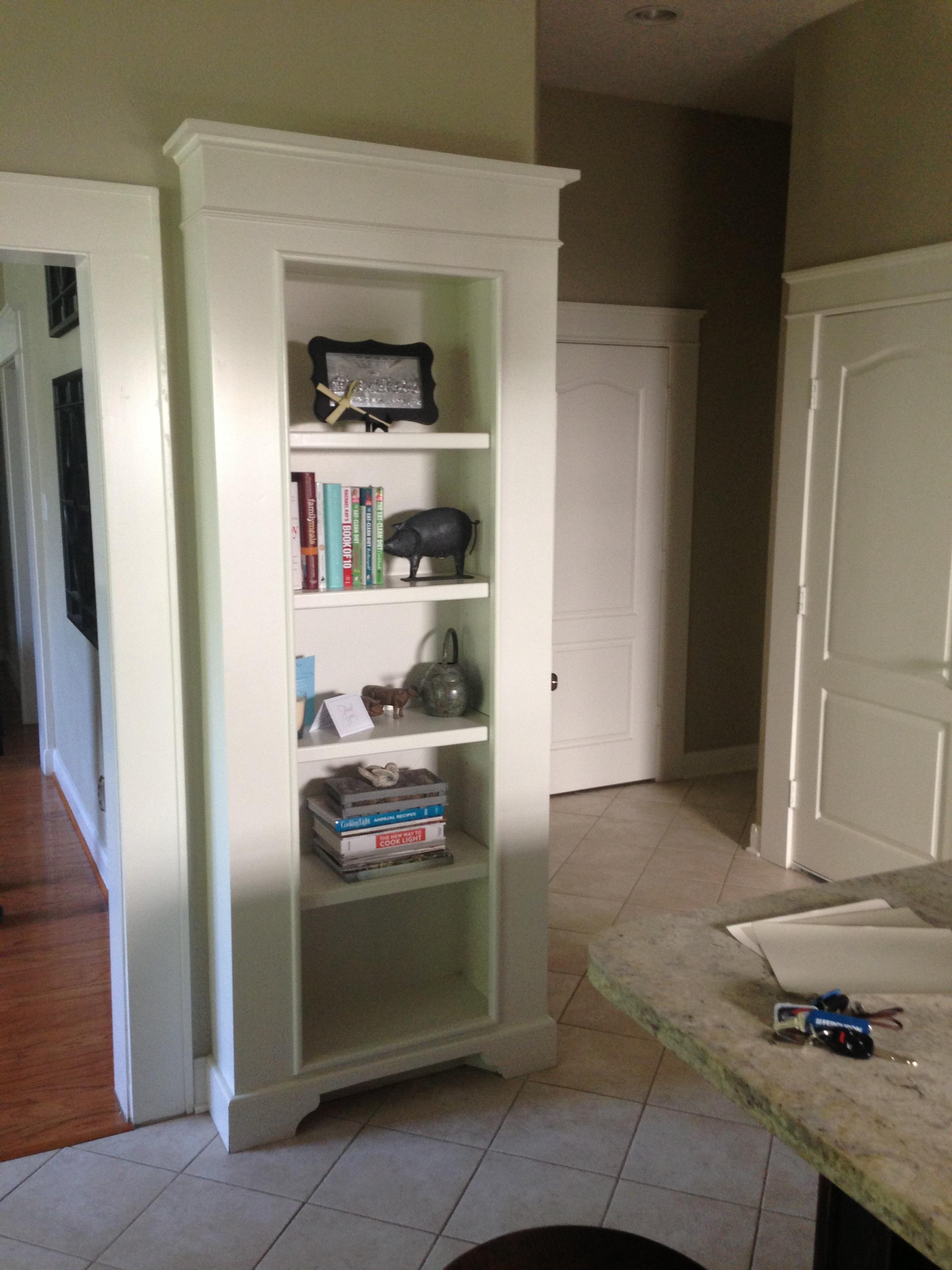 Bookshelf,  before