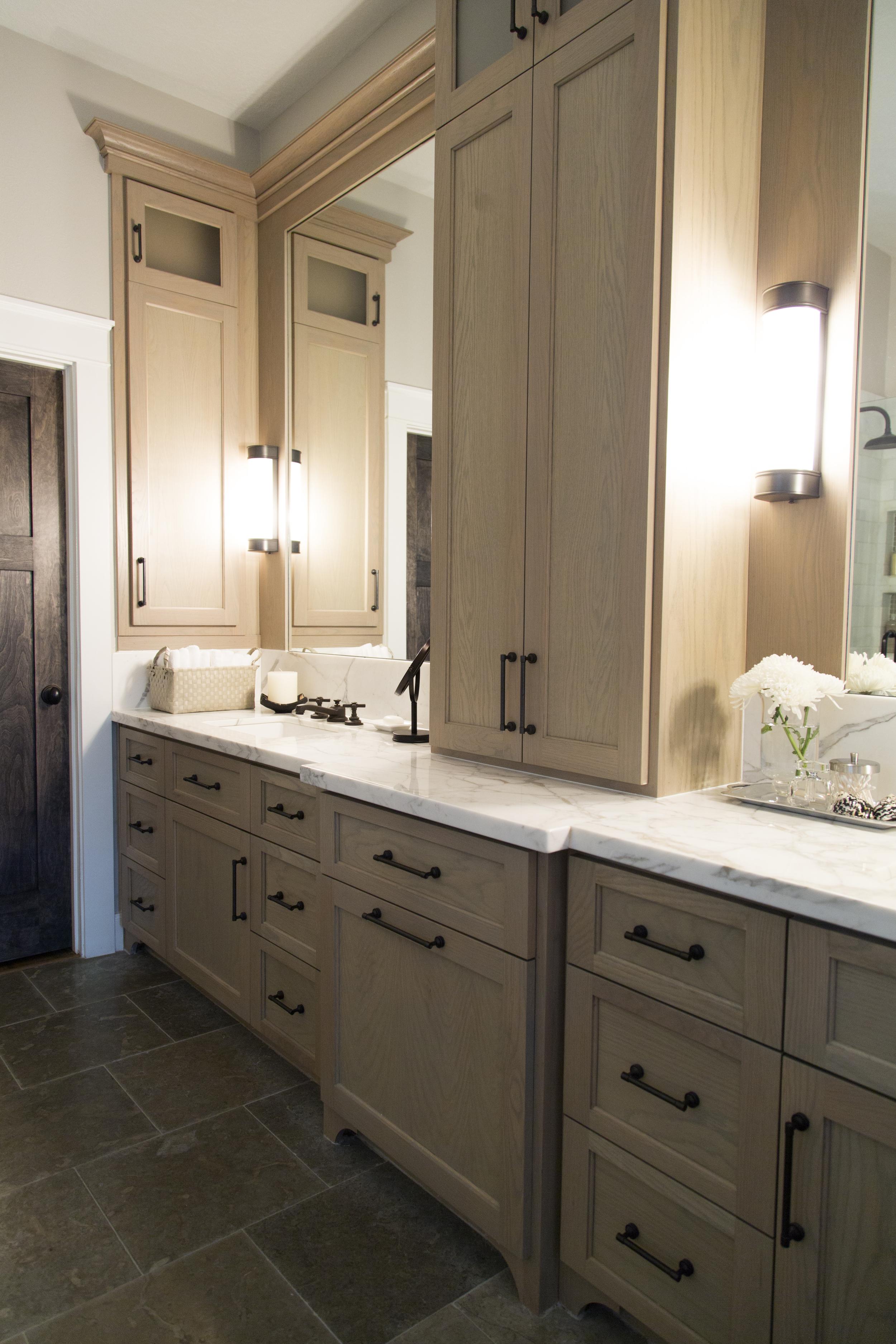 Master bathroom remodel, marble countertop | Interior design -er: Carla Aston- Photographer: Tori Aston http://ToriAston.com