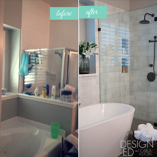 BEFORE & AFTER: A Confined Bathroom Is Uplifted w/ Bountiful Space!